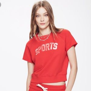 Mother Red Raw Sleeve Square Sports